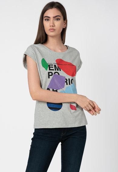 Emporio Armani Tricou cu imprimeu grafic Femei