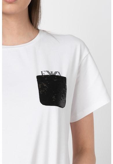 Emporio Armani Tricou cu buzunar pe piept Femei