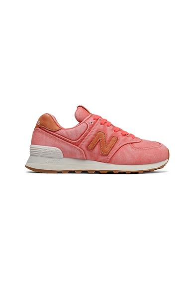 New Balance Pantofi sport cu insertii de piele 574 Femei
