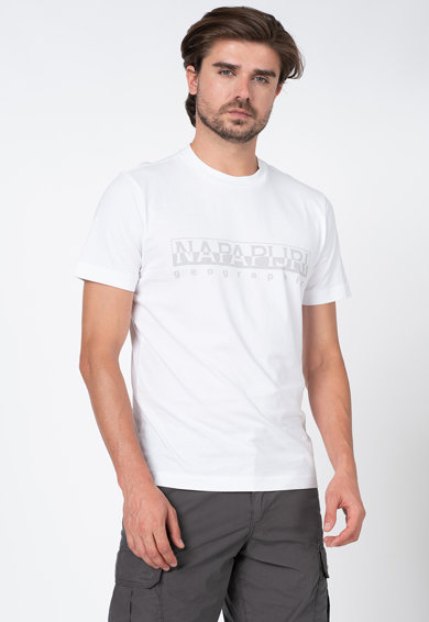 Napapijri Tricou cu imprimeu logo si decolteu la baza gatului Sevora Barbati