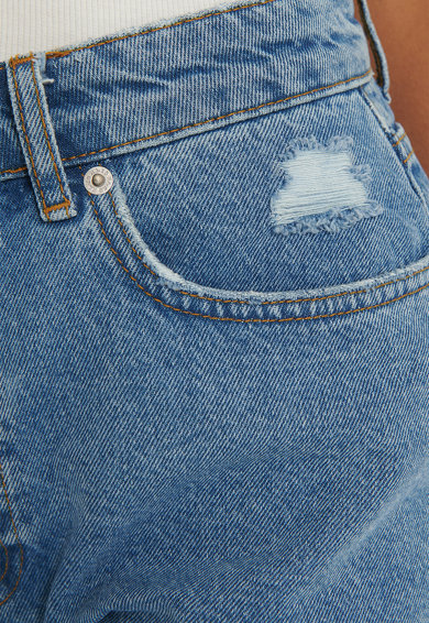 NA-KD Pantaloni scurti din denim, cu talie inalta Femei