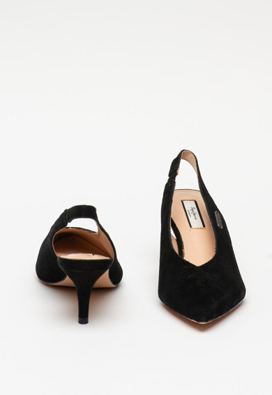 Pepe Jeans London Pantofi slingback de piele intoarsa Comers Femei