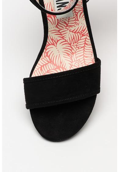 Pepe Jeans London Sandale de piele intoarsa ecologica cu toc masiv Yogi Esse Femei
