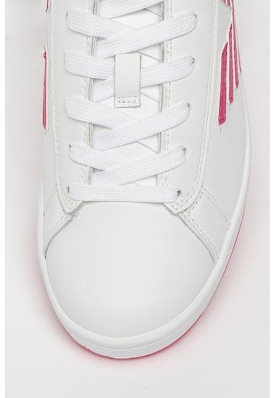 EA7 Pantofi sport din piele si piele ecologica cu logo in relief Femei