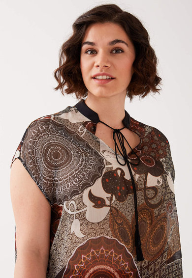Fiorella Rubino Bluza vaporoasa cu model oriental Femei