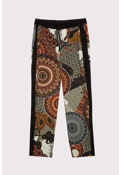 Fiorella Rubino Pantaloni crop vaporosi, cu model mandala Femei