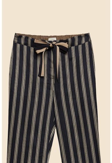 Oltre Pantaloni crop din amestec de in, cu model in dungi Femei
