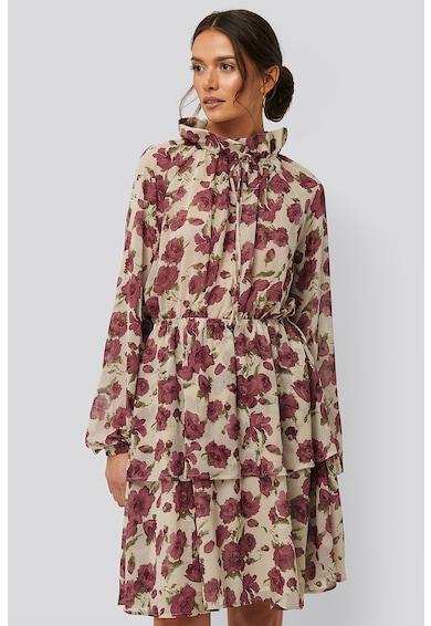 NA-KD Rochie cu imprimeu floral si design stratificat Femei