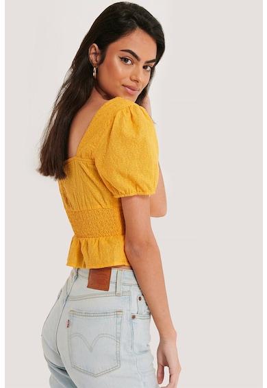 NA-KD Bluza crop cu insertie elastica in talie Femei