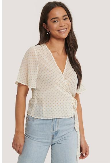 NA-KD Bluza cu model petrecut si imprimeu cu buline Femei