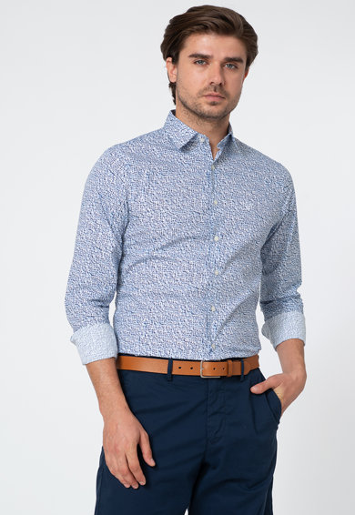 Gant Camasa slim fit cu model abstract Barbati