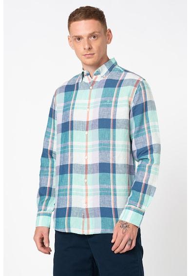 Gant Hosszú ujjú kockás lenvászon ing férfi