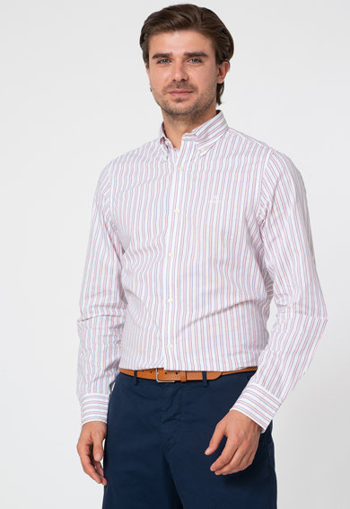 Gant Camasa slim fit cu model in dungi Barbati