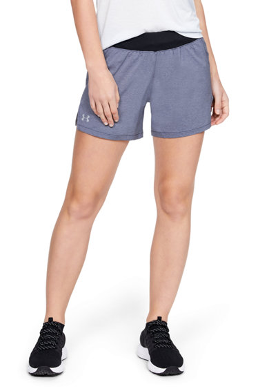 Under Armour Pantaloni scurti cu slituri laterale, pentru alergare Launch Femei