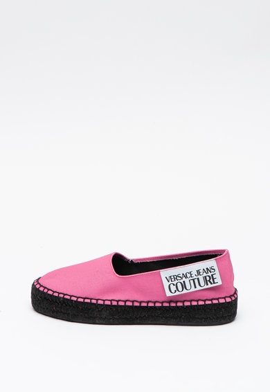 Versace Jeans Couture Pantofi loafer din material textil, cu logo Femei