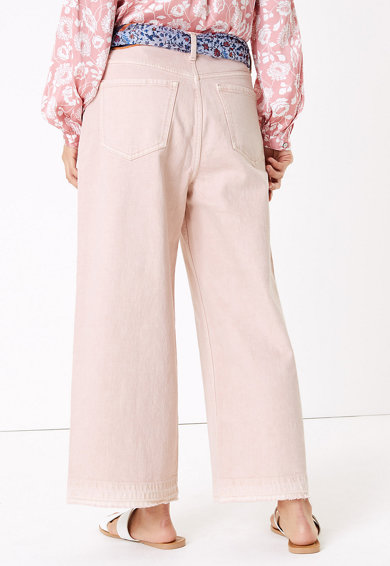 Marks & Spencer Blugi cu croiala ampla, talie inalta si curea-esarfa Femei