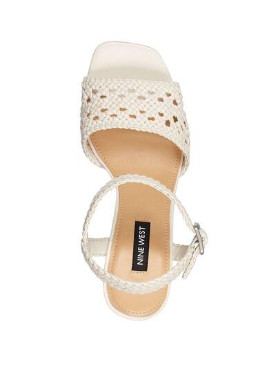 NINE WEST Sandale de piele ecologica, cu toc masiv Gwenny Femei