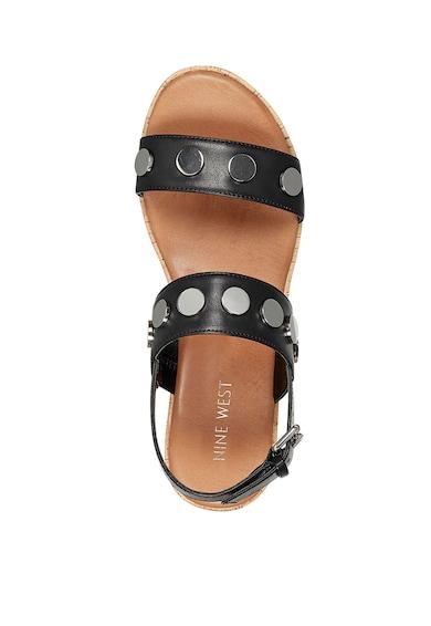 NINE WEST Sandale wedge de piele ecologica, cu tinte Blise Femei