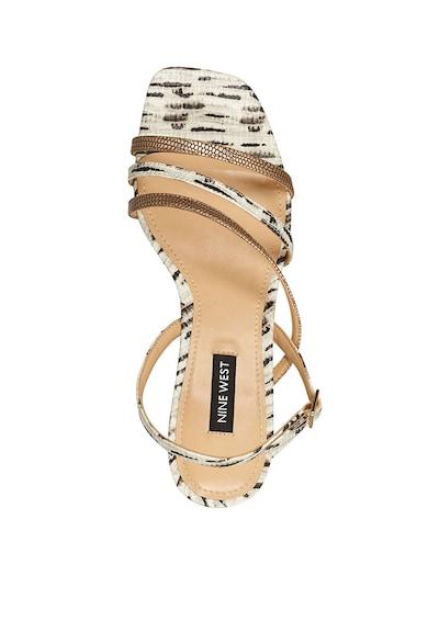 NINE WEST Sandale de piele ecologica, cu toc masiv Maeve Femei
