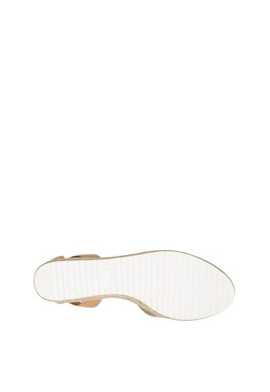 NINE WEST Sandale wedge tip espadrile de piele Audra Femei