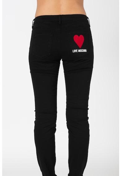 Love Moschino Blugi slim fit cu detaliu logo Femei
