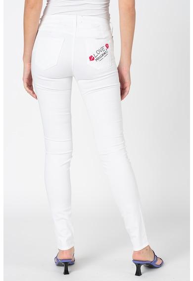 Love Moschino Skinny fit farmernadrág hímzett logóval női