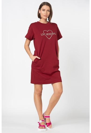 Love Moschino Rochie tip tricou cu logo Femei
