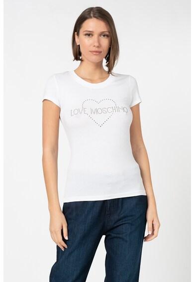 Love Moschino Póló strasszkövekkel díszítve női
