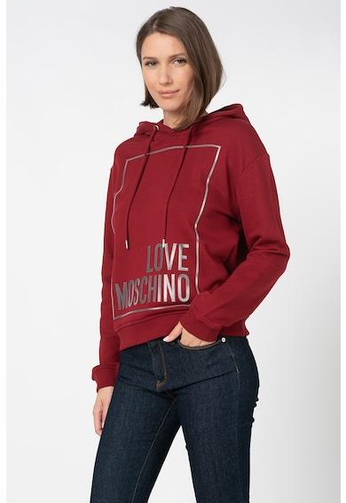 Love Moschino Kapucnis pulóver logóval női