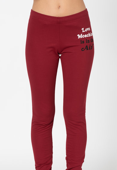 Love Moschino Pantaloni sport slim fit Femei