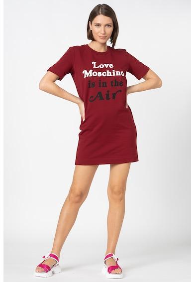 Love Moschino Rochie tip tricou cu imprimeu logo si text Femei