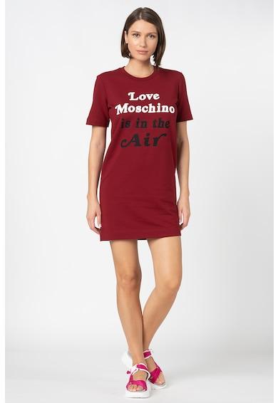 Love Moschino Logós és feliratos pólóruha női