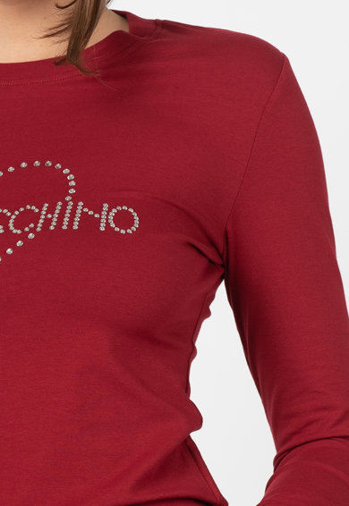 Love Moschino Bluza cu logo din strasuri Femei