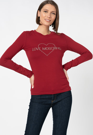 Love Moschino Felső strasszköves logóval női