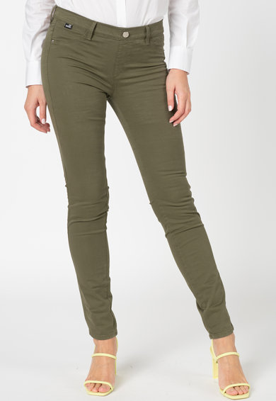 Love Moschino Jeggings din denim cu nasture decorativ Femei