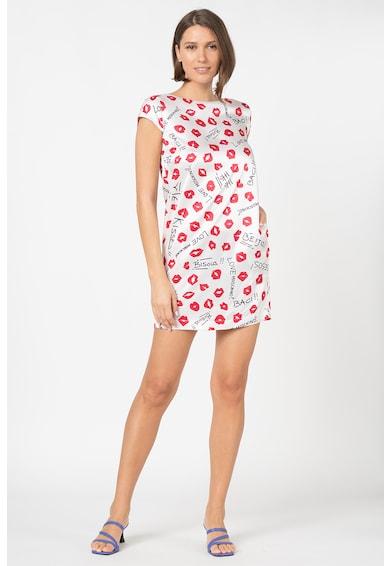 Love Moschino Rochie mini tip tricou, cu model logo Femei