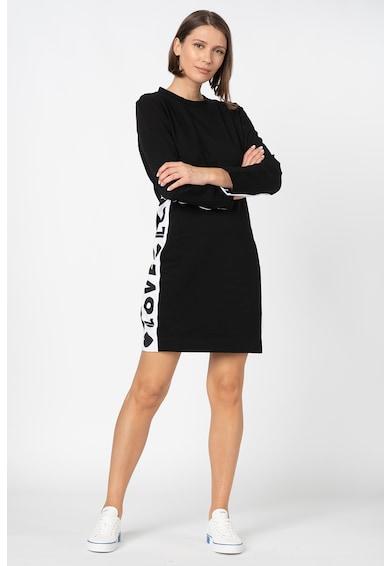 Love Moschino Rochie mini cu garnituri laterale cu logo Femei