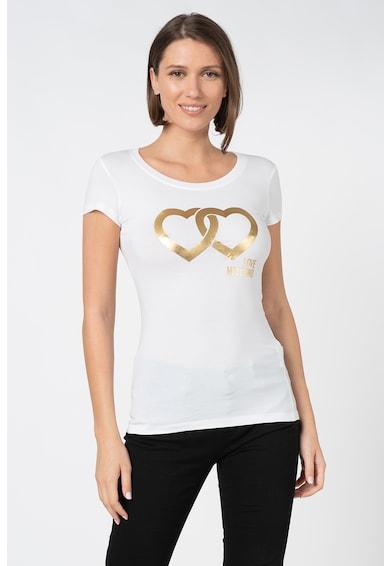 Love Moschino Póló fémes mintával női