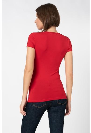 Love Moschino Tricou cambrat cu imprimeu grafic Femei
