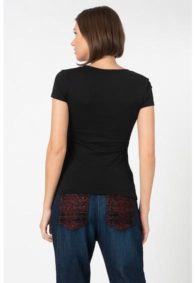 Love Moschino Tricou cu aplicatii logo cauciucate Femei