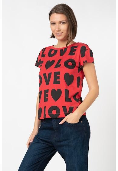 Love Moschino Tricou cu imprimeu tex Femei