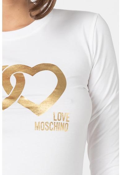 Love Moschino Bluza cu imprimeu metalizat Femei