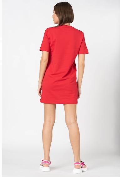 Love Moschino Mini pólóruha fémes hatású mintával női