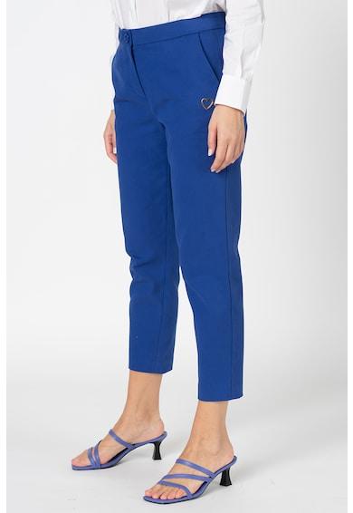 Love Moschino Pantaloni crop cu buzunare oblice Femei