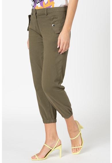 Love Moschino Crop nadrág rugalmas szárvégekkel női