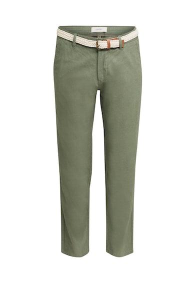 Esprit Pantaloni din amestec de in, cu o curea Barbati