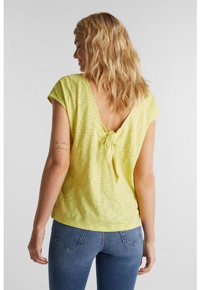 Esprit Tricou cu dungi si decolteu pe partea din spate Femei