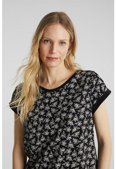 Esprit Tricou din bumbac organic, cu model floral Femei