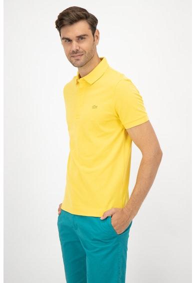 Lacoste Galléros póló hímzett logóval férfi