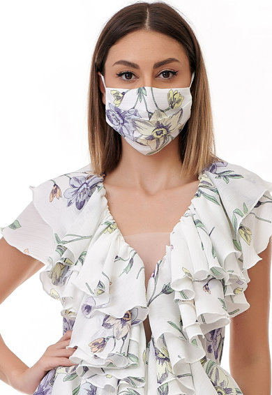 BADEN 11 Bluza din viscoza cu imprimeu floral si decolteu in V Femei